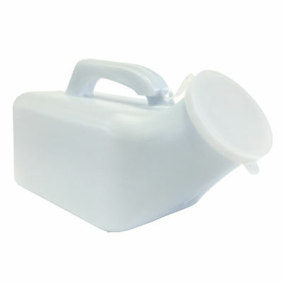 1 x 1000ml Male Mens Travel Outdoor Plastic Portable Toilet Urinal Bottle + Lid