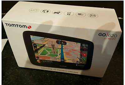TomTom GO620 with WiFi & World Maps Sat Nav Handsfree - Only 5 Months Old!