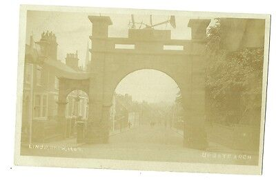 Louth - a photographic postcard of Upgate Arch (Lincs Show, 1909)