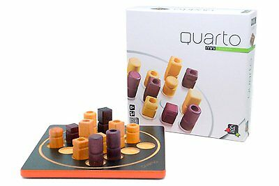 Quarto! Mini Wooden Strategy Board Game Brand New Sealed Gigamic Kids Family Toy