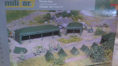 * Herpa Military 745826 Assembly Kit Tents (7 pieces) 1:87 HO Scale