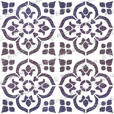 Tile Azrou STENCIL 100mm A5 TA Moroccan Furniture Wall Floor QUALITY 190 MYLAR