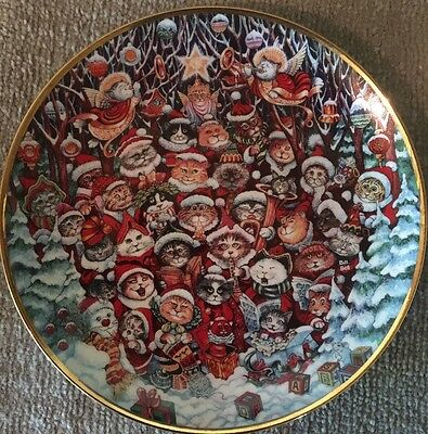 Santa Claws. Cat Collectors Christmas Plate By Bill Bell  Porcelain Numbered