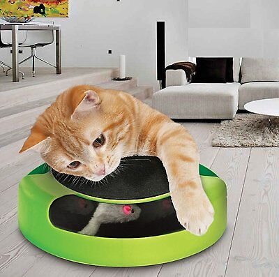 MEOW Cat Kitten Catch The Mouse Moving Play Toy Interactive Plush Scratching Mat