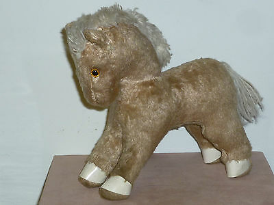 Ancienne Peluche Cheval Paille Mohair Laine Jouet Annee 50 Steiff ? Old Toys