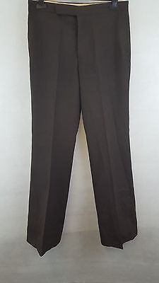 Vintage 1970s Brown Flared Trousers Disco Flares Size W30 L32