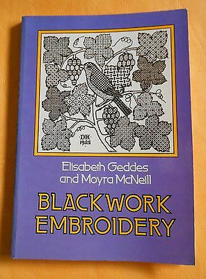 BLACKWORK  EMBROIDERY ~ 1976 ~ 115 page Dover Publication SC Book