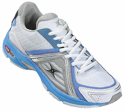 Clearance Line - New Gilbert Netball Helix Trainer White Sizes 5 - 11
