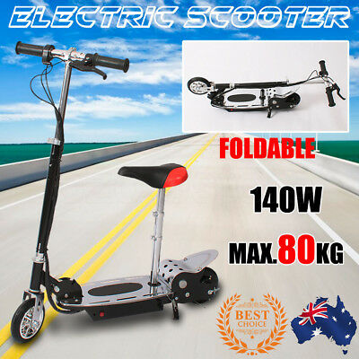 OZ Electric Scooter 140W Height Adjustable Foldable Kids Children Ride With Seat