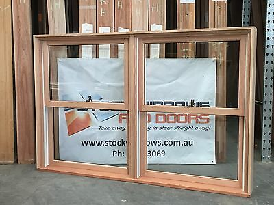 Timber Double Hung Window 1196h x 1840w Twin Sash DOUBLE GLAZED - IN STOCK NOW