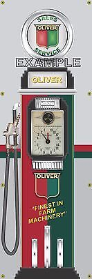 Oliver Farm Tractor Old Tokheim Gas Pump Banner Display Sign Mural Art 2' X 6'