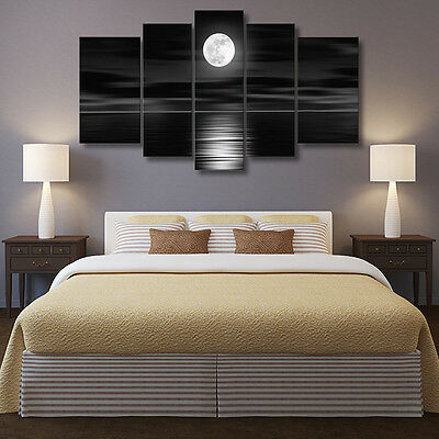Full Moon Modern Painting Canvas Wall Art Picture Paint Home Decor Unframed