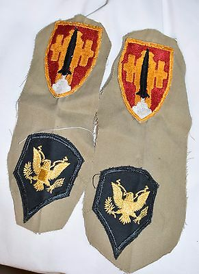 Artillery And Missile School Patch Post Ww2 50's U.s. Army Cut Edge Lot