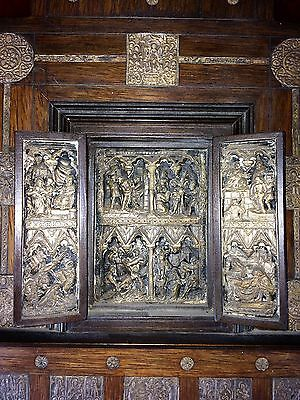 Litle Altarpiece. Silver Relieves. Wood. Bizantine Style. Middle East (?) Xix-Xx