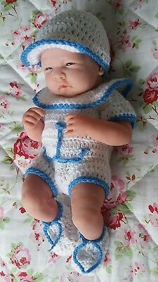 """Hand made  clothes set for 14"""" la new born cup cake berenguer reborn baby dolls"""