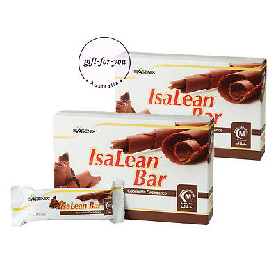 Isagenix IsaLean High Protein Energy Bar - Chocolate Decadence x 2 Box - 20 Bars