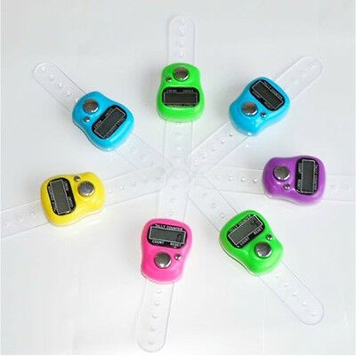 5 x Digital Counters,Finger Ring Tally Counter,Tasbeeh, Golf, different colours