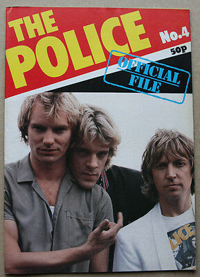 Nice Original Vintage The Police Sting Official Magazine Issue 4 NM