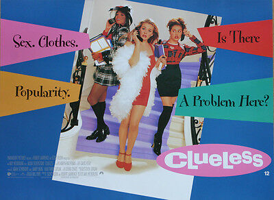 Original Vintage UK Mini Quad Poster Clueless Alicia Silverstone