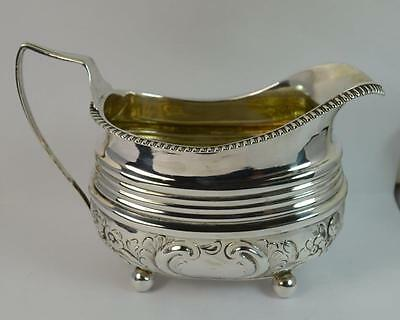 c1800 George III Sterling Silver Cream or Milk Jug on Ball Feet