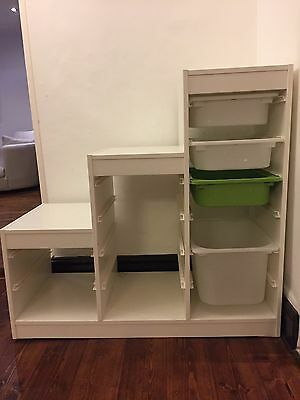 Ikea  children's toy storage unit with boxes