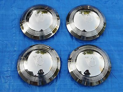 Set Of 1940-1948 Ford Passenger Car & 1940-1960 Pickup Stainless Steel Hubcaps