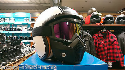Goggle & Mask Iridium for Open Face Motorcycle Helmet visor shield guard goggles
