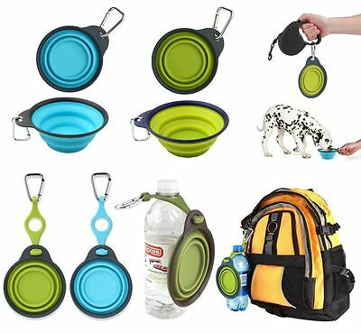 Dexas Popware Collapsible Dog Cat Food Water Travel Bowl Clip or Bottle Holder
