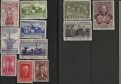 "11 different 1930 Spanish Columbus mint specimen stamps overprinted ""muestra"""