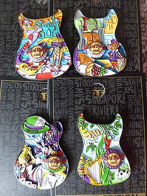 Hard Rock Cafe Las Vegas  4 pins!!!!   Storybook Guitar Pins   *complete Set*
