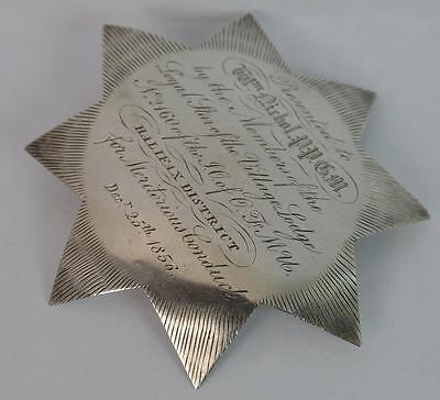 1856 Victorian Solid Silver Breast Star Brooch Badge from Halifax