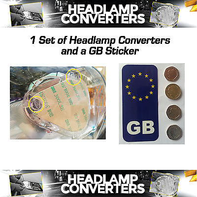Headlamp Converters & GB Sticker for driving in France