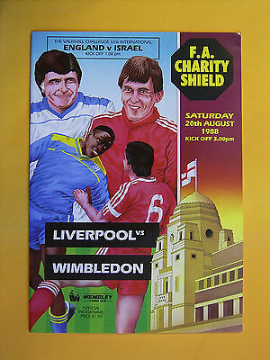 FA Charity Shield - Liverpool v Wimbledon - 20th August 1988