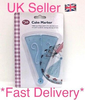 New Tala Cake Marker 'C' & 'S' Scrolls Helps With Cake Decoration Stencil UK