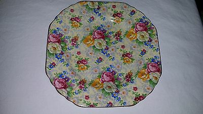 """Vintage Lord Nelson Ware Chintz China ROSE TIME Salad Dessert Plate 6 5/8"""""""