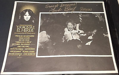 "LINDA BLAIR - Movie Window Lobby Card from ""EXORCIST II"" - SIGNED In Person"