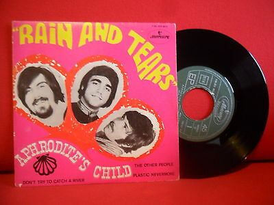 APHRODITE'S CHILD Rain And Tears 7/45 NMINT EP PORTUGAL 68 UNIQUE PSYCHIC SLEEVE
