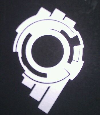 Ghost In The Shell Stand Alone Complex Section 9 Vinyl Sticker SILVER GLOSS