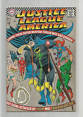 Justice league of america #53 & 56 FN/VF (7.0) two 1967 DC comics lot