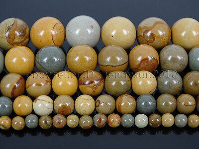 Natural Wildhorse Jasper Gemstone Round Bead 16'' 4mm 6mm 8mm 10mm 12mm