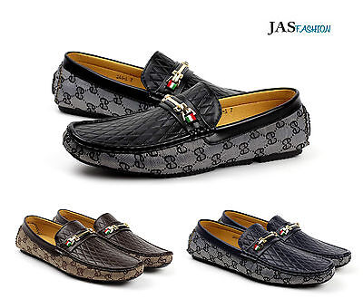 Mens Loafers Slip On Designer Driving Shoes Casual Moccasin Italian Fashion Size