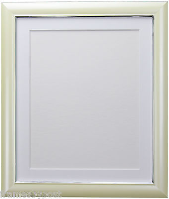 Soda Cream Retro Style Photo Picture Frames & choice of Colour Mounts 29 x 15mm