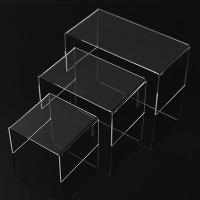 Acrylic PERSPEX® Riser Shelf Nesting Plinths Shop Counter Display Stands small