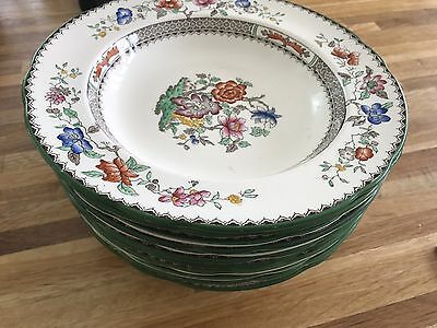 12 Soup Bowls Copeland Spode Chinese Rose Pattern