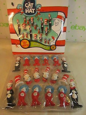 Box of 19 Mini Cat In The Hat Tie Ons w Thing 1 & Thing 2