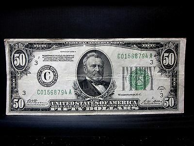 1928-A $50 Federal Reserve Note ✪ Vf Very Fine ✪ Philadelphia C Dgs ◢Trusted◣