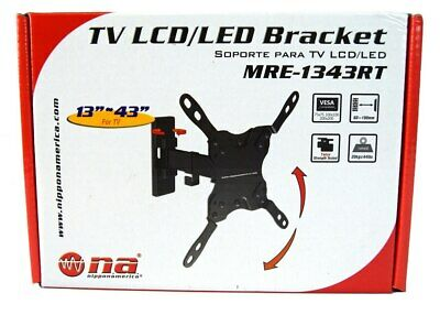 "Tilt Swivel Articulating Wall Mount 13"" - 43"" LED LCD TV Bracket Nippon America"