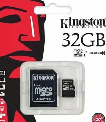 Kingston 32 gb SDXC Micro Sd card class 10 UHS-I 45mb/sec with adopter