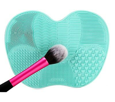 Silicone Cosmetic Makeup Brush Cleaner Mat Washing Pad Scrubber Board Make Up