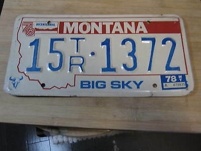 1978 Montana Bicentennial License Plate Expired 15 1372